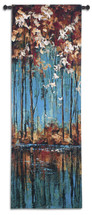 The Mirror by Luis Solis | Woven Tapestry Wall Art Hanging | Impressionist Autumn Trees Reflecting on Pond | 100% Cotton USA Size 61x20 Wall Tapestry
