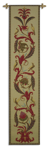 Fine Art Tapestries Avian Ascendance Ruby Velvet Hand Finished European Style Jacquard Woven Wall Tapestry USA 69X16 Wall Tapestry