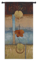 Free Fall I | Woven Tapestry Wall Art Hanging | Contemporary Leaf Composition Vertical Artwork | 100% Cotton USA Size 63x29 Wall Tapestry