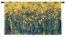 Sparks II | Woven Tapestry Wall Art Hanging | Floral Abstract Blooming Rich Yellow Field | 100% Cotton USA Size 53x31 Wall Tapestry