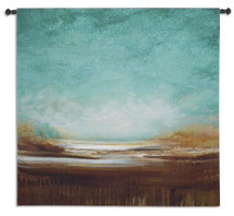 New Horizons by Cat Tesla | Woven Tapestry Wall Art Hanging | Serene Abstract Landscape | 100% Cotton USA Size 52x51 Wall Tapestry