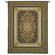 Manor   Woven Tapestry Wall Art Hanging   Vivid Intricate Botanical Luxurious Wall Design   100% Cotton USA Size 107x84 Wall Tapestry