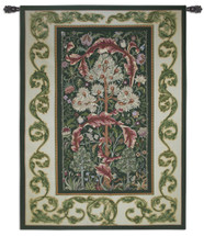 Acanthus Forest by William Morris | Woven Tapestry Wall Art Hanging | Lush Blooming Foliage with Nestling Birds | 100% Cotton USA Size 80x60 Wall Tapestry