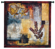 Organic Autumn By Jae Dougall - Woven Tapestry Wall Art Hanging For Home Living Room & Office Decor - Fall Colors Warm Earthy Tones Organic Abstract - 100% Cotton - USA Wall Tapestry