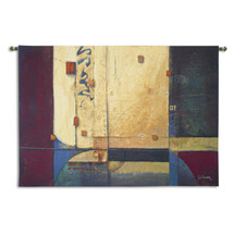 Ocean Voyage By Don Li-Leger  - Woven Tapestry Wall Art Hanging For Home Living Room & Office Decor - Siam Fusion Geometric Pattern Abstract Artwork - 100% Cotton - USA 53x88 Wall Tapestry