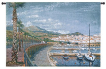 Fine Art Tapestries Porto Mer Hand Finished European Style Jacquard Woven Wall Tapestry USA 36X53 Wall Tapestry