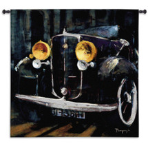 Presencia by Ana Perpinya | Woven Tapestry Wall Art Hanging | Vintage Retro Automobile Artwork | 100% Cotton USA Size 53x53 Wall Tapestry