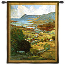 Color of Ireland by John William | Woven Tapestry Wall Art Hanging | Vivid Impressionist Seaside Landscape | 100% Cotton USA Size 62x53 Wall Tapestry