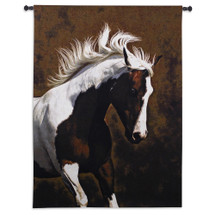 Bella IV by Robert Dawson | Woven Tapestry Wall Art Hanging | Magnificent Earthy Equestrian Still | 100% Cotton USA Size 63x53 Wall Tapestry