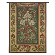 Acanthus by William Morris | Woven Tapestry Wall Art Hanging | Lush Blooming Foliage with Nestling Birds | 100% Cotton USA Size 80x60 Wall Tapestry