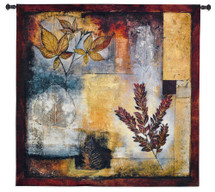 Organic Autumn By Jae Dougall - Woven Tapestry Wall Art Hanging For Home Living Room & Office Decor - Colors Warm Earthy Tones Organic Abstract Artwork 100% Cotton - USA 31X31 Wall Tapestry