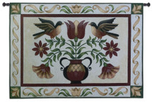 Fine Art Tapestries Folk Robins Hand Finished European Style Jacquard Woven Wall Tapestry USA 37X53 Wall Tapestry