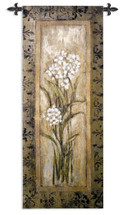 Fine Art Tapestries Paperwhite I Hand Finished European Style Jacquard Woven Wall Tapestry  USA Size 53x22 Wall Tapestry