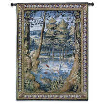 Verdure with Animals by Jan Van Tieghem | Woven Tapestry Wall Art Hanging | Vibrant Forest Masterpiece King Sigismund II Augustus Commission | 100% Cotton USA Size 53x40 Wall Tapestry
