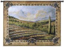 Napa Valley Ii - Woven Tapestry Wall Art Hanging - Rolling Hill Hills Napa Valley Vineyard Vineyards Grapes Ornate Grape Nature Artwork - 100% Cotton - USA 40X53 Wall Tapestry