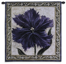 Tulip Unveiled I by Liz Jardine | Woven Tapestry Wall Art Hanging | Tulip Study Lone Flower Still Life | 100% Cotton USA Size 30x27 Wall Tapestry