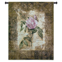 Blossoming Elegance I Hand Finished European Style Jacquard Woven Wall Tapestry USA 53X41 Wall Tapestry