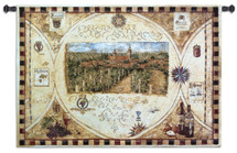 Fine Art Tapestries Hilltop Winery Hand Finished European Style Jacquard Woven Wall Tapestry USA 36X53 Wall Tapestry