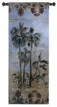 Curacao II by Dennis Carney | Woven Tapestry Wall Art Hanging | Abstract Tropical Palms | 100% Cotton USA Size 53x21 Wall Tapestry