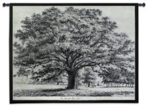 Bounds Park Oak by Jacob George Strutt | Woven Tapestry Wall Art Hanging | Magnificent Black and White Tree Artwork | 100% Cotton USA Size 53x42 Wall Tapestry