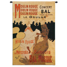 Moulin Rouge by Henri de Toulouse-Lautrec | Woven Tapestry Wall Art Hanging | Vintage French Cabaret Poster Advertisement | 100% Cotton USA Size 53x38 Wall Tapestry