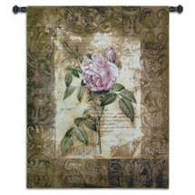 Fine Art Tapestries Blossoming Elegance I Hand Finished European Style Jacquard Woven Wall Tapestry USA 32X26 Wall Tapestry