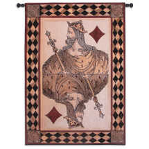 King Diamond | Woven Tapestry Wall Art Hanging | Detailed Retro Playing Card Game Room Decor | 100% Cotton USA Size 53x37 Wall Tapestry