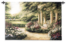 Westbury Gardens Featuring A Meandering Walk With Vibrant Spring Flowers And A Peaceful Secluded Gazebo - Woven Tapestry Wall Art Hanging For Home Living Room & Office Decor - 100% Cotton - USA 34X53 Wall Tapestry