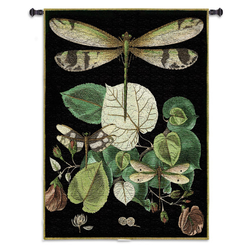 Whimsical Dragonfly Ii by - Woven Tapestry Wall Art Hanging for Home & Office Decor - Whimsical Gift for Any Dragonfly Lover Stunning Delicate Symbol of Summer - 100% Cotton - USA 53X38 Wall Tapestry