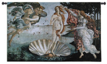 Birth of Venus by Sandro Botticelli - Woven Tapestry Wall Art Hanging for Home & Office Decor - Narcisa Di Venere Venus Seashell Island of Cythera Italian Renaissance Florentine - Cotton - USA 34X53 Wall Tapestry