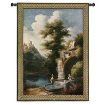 Stolen Moments | Woven Tapestry Wall Art Hanging | Secluded Nature Fishing Scene | 100% Cotton USA Size 53x34 Wall Tapestry