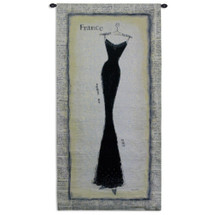Vogue Silhouette by Emily Adams | Woven Tapestry Wall Art Hanging | Vintage Themed Fashion Artwork | 100% Cotton USA Size 53x27 Wall Tapestry