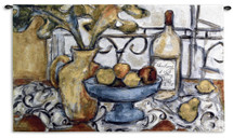Still Life With Black And White By Nicole Etienne - Woven Tapestry Wall Art Hanging - Still Life Fruit Bowl Traditional Cubist Perspective - 100% Cotton - USA 32X53 Wall Tapestry