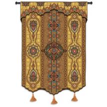 Prema Zari | Woven Tapestry Wall Art Hanging | Ornate Eastern Inspired Pattern Artwork | 100% Cotton USA Size 62x52 Wall Tapestry