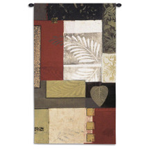 Enlightenment II by Connie Tunick | Woven Tapestry Wall Art Hanging | Abstra Leaf Frond Collage | 100% Cotton USA Size 52x31 Wall Tapestry