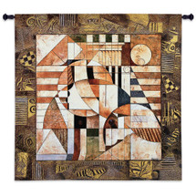 Fine Art Tapestries Point Of Reference Hand Finished European Style Jacquard Woven Wall Tapestry  USA Size 52x54 Wall Tapestry