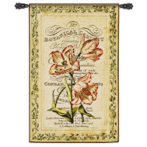 Botanical Garden Ii Hand Finished European Style Jacquard Woven Wall Tapestry USA 53X34 Wall Tapestry