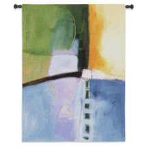 Linear Motion II by Mary Beth Thorngren | Woven Tapestry Wall Art Hanging | Colorful Abstract Watercolor Effect Artwork | 100% Cotton USA Size 53x38 Wall Tapestry
