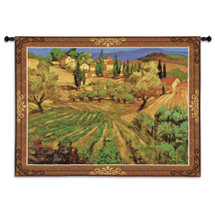 Mont Ventoux   Woven Tapestry Wall Art Hanging   Lush Villa Farm Landscape in Southern French Mountains   100% Cotton USA Size 64x53 Wall Tapestry