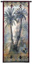Masoala Panel I by Jill O'Flannery | Woven Tapestry Wall Art Hanging | Tropical West Indies Palm Trees | 100% Cotton USA Size 53x22 Wall Tapestry