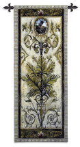 Textured View II by Douglas | Woven Tapestry Wall Art Hanging | Intricate Tropical Foliage Scrolling Artwork | 100% Cotton USA Size 53x24 Wall Tapestry