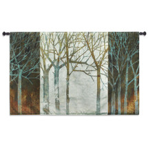 Night And Day By Kathrine Love - Woven Tapestry Wall Art Hanging For Home Living Room & Office Decor - Tree Shadows Nature Forest Theme - 100% Cotton - USA 34X52 Wall Tapestry