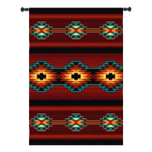 Esme | Woven Tapestry Wall Art Hanging | Radiant Southwestern Inspired Geometric Design | 100% Cotton USA Size 73x53 Wall Tapestry