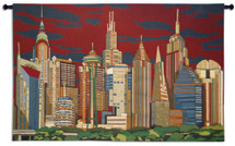 Cityliners | Woven Tapestry Wall Art Hanging | Contemporary Urban American Skyscrapers | 100% Cotton USA Size 63x41 Wall Tapestry