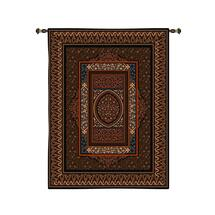 Morocco | Woven Tapestry Wall Art Hanging | Rich Earthy Classic Filigree Pattern Design | 100% Cotton USA Size 107x63 Wall Tapestry