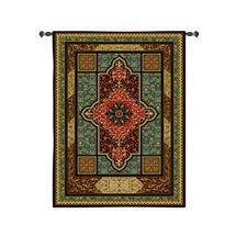 Regency | Woven Tapestry Wall Art Hanging | Intricate Weaving Gold Filigree Design Rich Patterns | 100% Cotton USA Size 107x63 Wall Tapestry