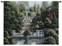Rose Garden I by Betsy Brown   Woven Tapestry Wall Art Hanging   Lush Floral Courtyard Artwork   100% Cotton USA Size 52x41 Wall Tapestry