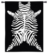 Imperial Zebra | Woven Tapestry Wall Art Hanging | Bold Patterned Minimalist African Wildlife Decor | 100% Cotton USA Size 53x44 Wall Tapestry
