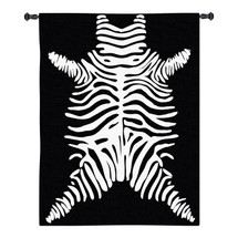 Imperial Zebra | Woven Tapestry Wall Art Hanging | Bold Patterned Minimalist African Wildlife Decor | 100% Cotton USA Size 68x52 Wall Tapestry