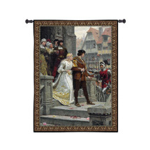 Call to Arms | Woven Tapestry Wall Art Hanging | Royal Medieval Wedding | 100% Cotton USA Size 41x33 Wall Tapestry